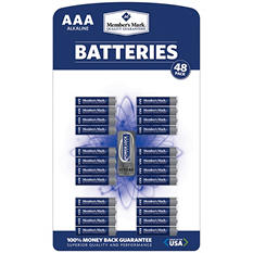 Member's Mark AAA Alkaline Batteries (48 ct.)