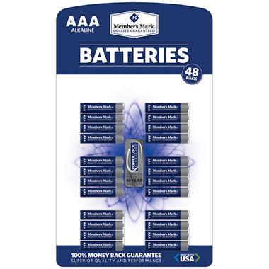 Member's Mark� AAA Alkaline Batteries - 48 pk.