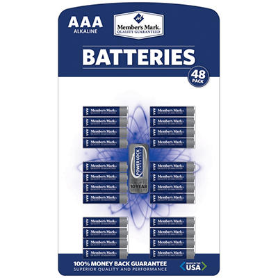 Member's Mark® AAA Alkaline Batteries - 48 pk.