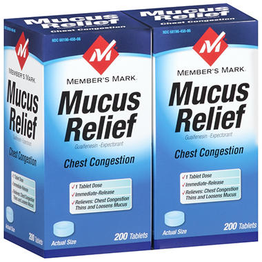 Member's Mark® Mucus Relief - 2/200 ct.