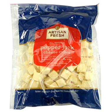 Artisan Fresh Pepper Jack Cheese Cubes - 2 lb.