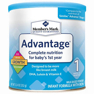 Member's Mark Infant Formula, Advantage (12.4 oz.)