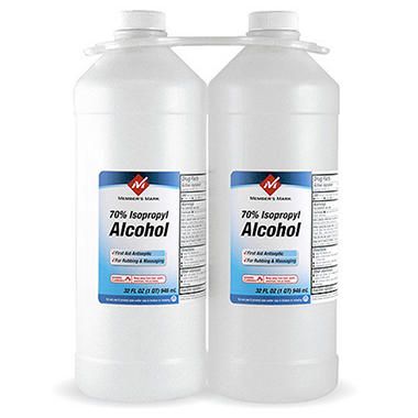 Member's Mark 70% Isopropyl Alcohol - 2/32 oz.