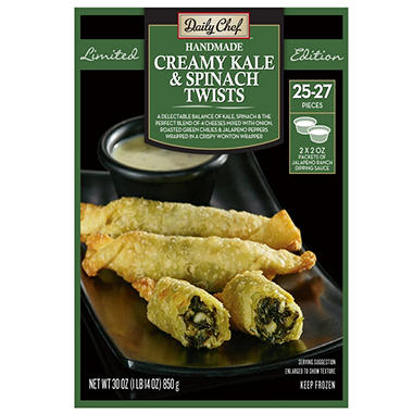Daily Chef Creamy Kale and Spinach Twist (30 oz., 25-27 ct.)
