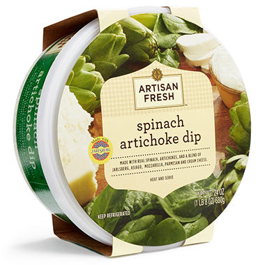 Artisan Fresh Spinach Artichoke Dip (24 oz.) - Sam's Club