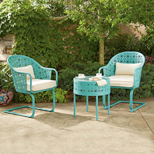 Member's Mark Parker 3-Piece Bistro Set, Blue