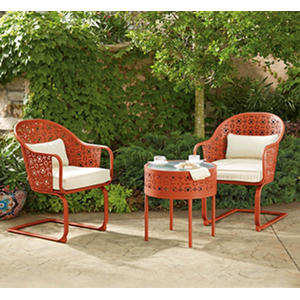 Member's Mark Parker 3-Piece Bistro Set, Melon
