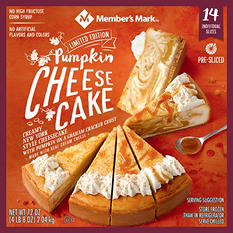Member's Mark Pumpkin Spice Cheesecake (72 oz., 14 slices)
