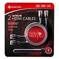 Member's Mark 2pk. 9ft. HDMI Cables