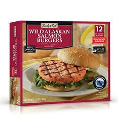 Daily Chef Wild Alaskan Salmon Burgers (12 ct.)