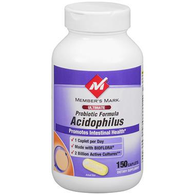 Member's Mark Probiotic Formula Acidophilus Caplets, 150 Count