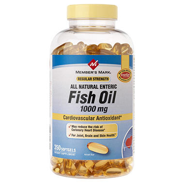 Member 39 s mark enteric fish oil softgels 1000mg sam 39 s club for Sam s club fish oil