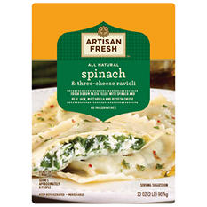 Artisan Fresh Spinach & Three-Cheese Ravioli - 32 oz.