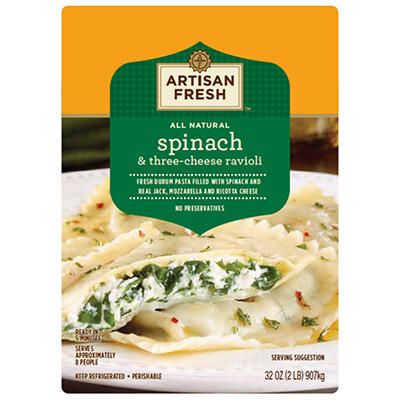 Artisan Fresh Spinach & Three-Cheese Ravioli - 32 oz.