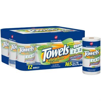 Members Mark Select Tear Paper Towels 12 Rolls On Popscreen
