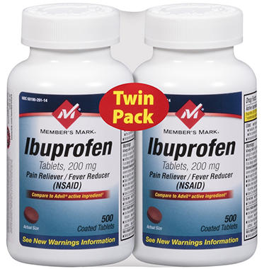 Member's Mark® Ibuprofen - 2/500 ct.