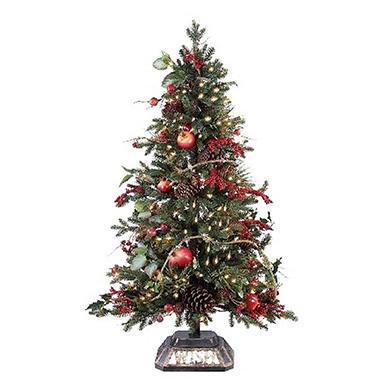 Christmas Tree w/100 UL Lights - Pomegranate - 4' - Sam's Club