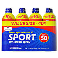 Member's Mark Sport SPF 50 Continuous Spray Sunscreen (10 fl. oz., 4 pk.)