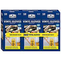Member's Mark Commercial Disposable Latex-Free Vinyl Gloves (120 gloves,  3 pk.)