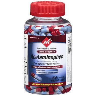 Member's Mark® Acetaminophen Rapid Release Gelcaps - 400 ct.
