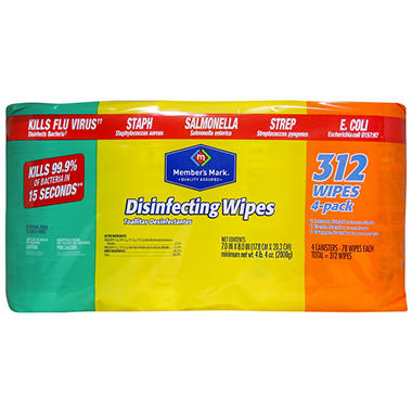 Member's Mark Disinfecting Wipes Variety Pack - 4 pk. - 78 ct. each