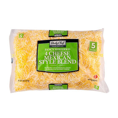 Bakers & Chefs 4 Cheese Mexican Blend - 5 lbs.