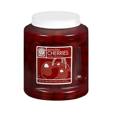 Bakers & Chefs Maraschino Cherries with Stems - 74 oz.