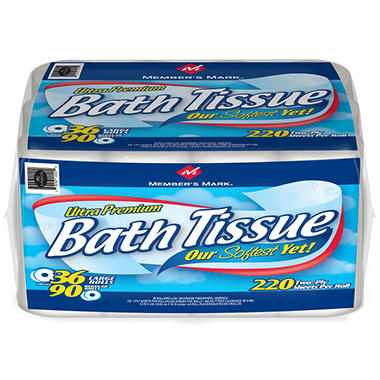 Member's Mark Bath Tissue - 36 Large Rolls