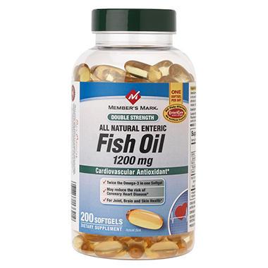 Member 39 s mark fish oil double strength 200 ct sam for Sam s club fish oil