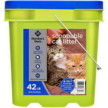 Member's Mark 4-in-1 Formula Scoopable Cat Litter, 42 lb.