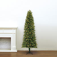 7' Member's Mark Artificial Pre-Lit LED Color Changing Dawson Pine Quick Set Simple Shape Christmas Tree