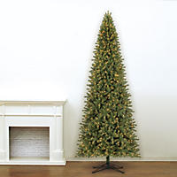 12' Member's Mark Artificial Pre-Lit LED Ellsworth Fir Quick Set, Simple Shape Christmas Tree