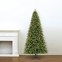 9' Member's Mark Artificial Pre-Lit LED Color-Changing Virginia Pine Quick Set Simple Shape Quick Fold Christmas Tree