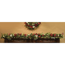 Member's Mark 9' Pre-lit Garland in Classic Holiday Colors