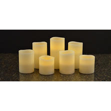Member's Mark 7-Piece Flameless Candle Pillar Set with Remote and Timer