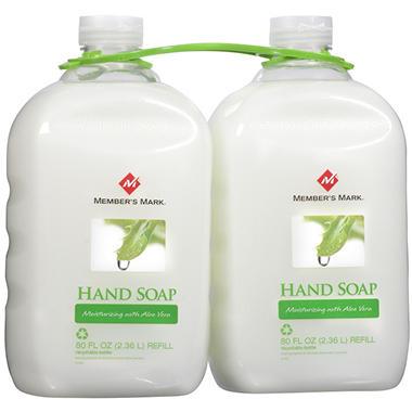 Member's Mark Liquid Aloe Soap 2 PK / 80 Oz