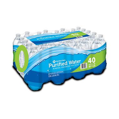 Member's Mark Purified Bottled Water - 40 / 16.9 oz. bottles