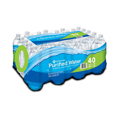 Member's Mark Purified Bottled Water - 40 / 16.9 oz. bottles