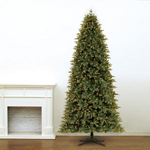 12' Member's Mark Artificial Pre-Lit LED Frasier Fir Quick Set, Simple Shape, Quick Fold Christmas Tree