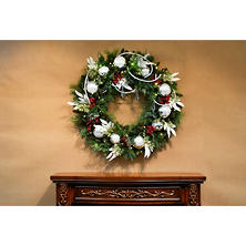 "Member's Mark 39"" Battery-Operated Pre-Lit Decorated Wreath"