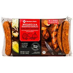 Member's Mark Mozzarella & Roasted Garlic Chicken Sausage (16 links)