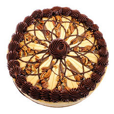 """Creamy Filled 9"""" Turtle Cheesecake (serves 12)"""