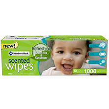 Member's Mark Scented Baby Wipes, 1,000 ct. (10 packs of 100)