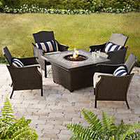 Agio Heritage Fire Chat  with Premium Sunbrella Fabric