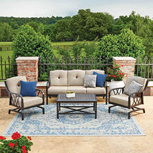 Member's Mark Millers Creek Deep Seating Set with Sunbrella Fabric