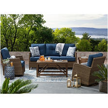 Member's Mark Fremont Deep Seating Set, Indigo