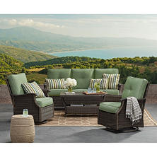 Member's Mark Stockton Deep Seating Set with Geobella Fabric, Green