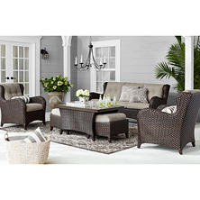 Member's Mark Heritage Deep Seating Set with Sunbrella Fabric  by Agio