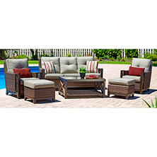 Member's Mark by Agio Urbana Deep Seating Set with Phifer Fabric