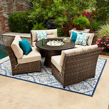 Member's Mark Avery Chat Set with Ice Bucket and Sunbrella Fabric